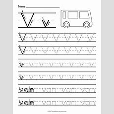 Free Printable Tracing Letter V Worksheet  Tracing Worksheets  Letter V Worksheets, Tracing