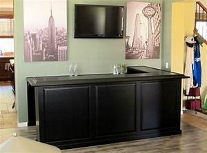 L shaped home bar cabinets c l design specialists inc for Home bar furniture l shaped