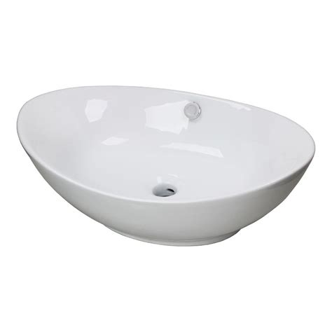 vessel sink with overflow new egg porcelain ceramic bathroom vessel vanity sink