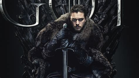 jon snow  game  thrones final season   wallpapers