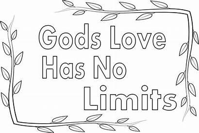 Coloring God Gods Bible Limits Printable Sheets