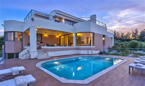chalet style house instyle villas modi villa chania crete