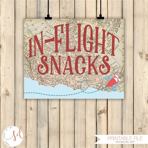 Vintage Travel Airplanes Birthday Party Sign In Flight