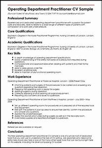 operating department practitioner cv sample myperfectcv With operation theatre nurse resume format