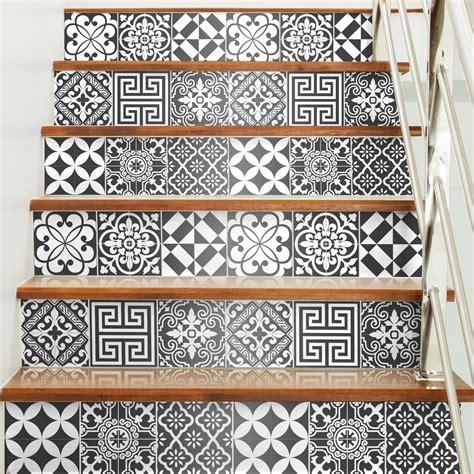 credence cuisine stratifié 60 stickers carrelages tiles traditionnels nuance de gris et design artistiques ambiance