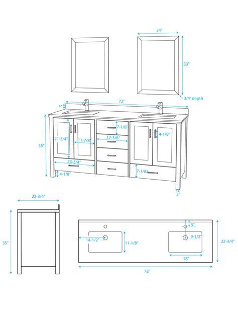 standard vanity width what is the standard height of a bathroom vanity paperblog