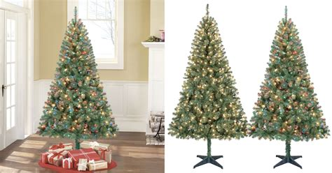 holiday time pre lit 65 madison pine white artificial christmas tree clear lights walmart cyber monday time pre lit 6 5