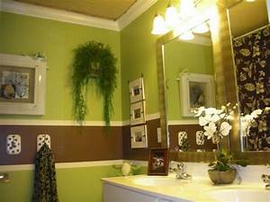 green and brown bathroom color ideas With green and brown bathroom decorating ideas