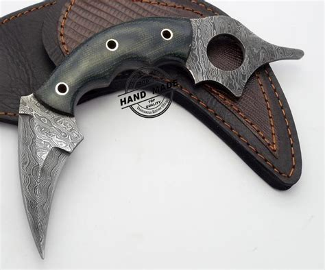 tactical kitchen knives damascus karambit edge custom handmade damascus