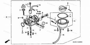 Honda Motorcycle 2002 Oem Parts Diagram For Carburetor