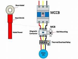 Rangkaian Dol  Direct On Line  Starter Motor 3 Ph  Wiring Diagram Dan Penjelasan Lengkap  U2013 Teguh