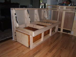 diy banquette  coffin drawer   home booth