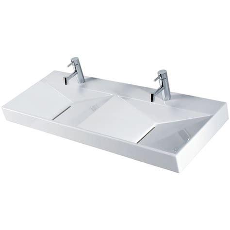 vasque 224 poser ou murale ancozen5 vasque rectangulaire en c 233 ramique sans trop plein et