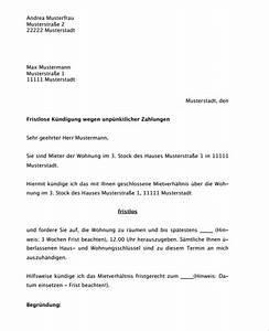 Kündigungsschreiben Wohnung Mieter : hier downloaden vermieterk ndigung fristlos wiederholt ~ Lizthompson.info Haus und Dekorationen