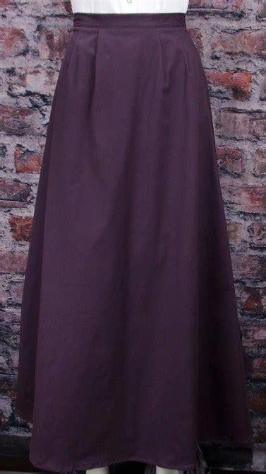 frontier classics cotton twill walking skirt purple