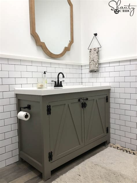 diy modern farmhouse bathroom vanity shanty  chic