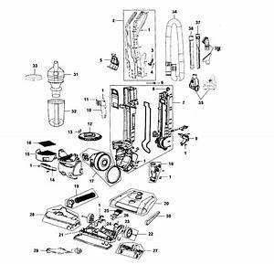 Hoover Model Uh70816 Vacuum  Upright Genuine Parts