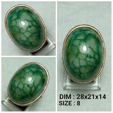 Batu Cincin Sisik Naga jual batu cincin akik sisik naga hijau seger di lapak