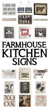 wall decor ideas for kitchen 15 farmhouse kitchen signs how to nest for less