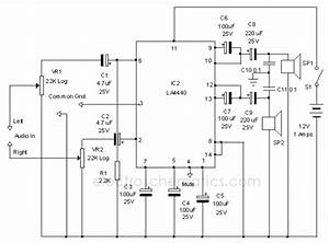 la4440 stereo amplifier circuit circuit diagram world With high quality mono audio amplifier circuit this amplifier is built on