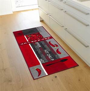 Teppich Küche Waschbar : k chenl ufer waschbar chilli rot grau 67 x 250 real ~ Yasmunasinghe.com Haus und Dekorationen