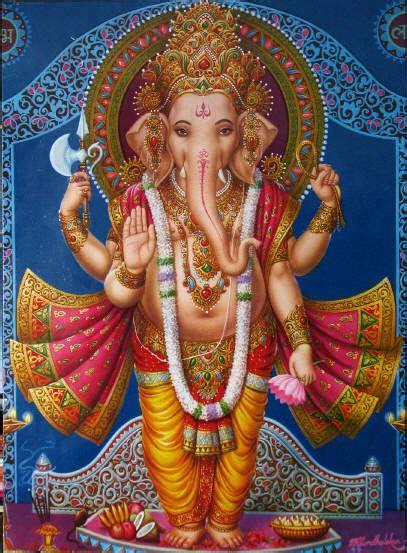 standing ganesh giving the gesture of blessings via stephen knapp ganesha