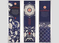 Chinese porcelain ornament banner vector Free vector in