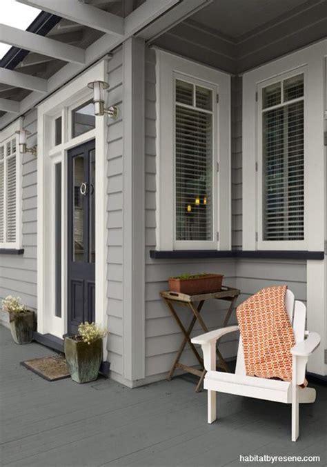 resene silver chalice walls black white trim  shark door house paint exterior exterior