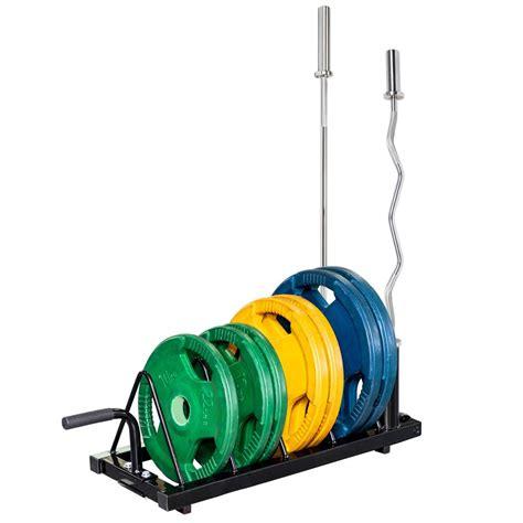 zimtown horizontal barbell bumper plate rack olympic bar storage holder walmartcom walmartcom