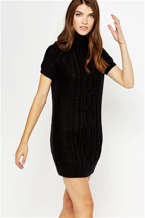 Black Long Roll Neck Jumper Dress - Just u00a35