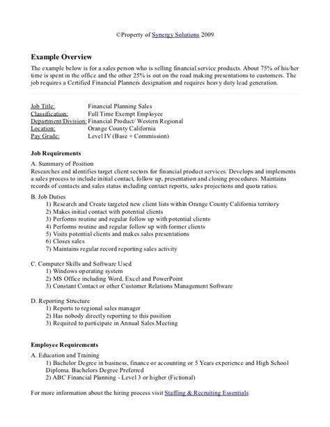 job analysis examples  word examples