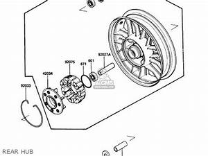 Kawasaki 1989 B3  Zg1200 Parts List Partsmanual Partsfiche