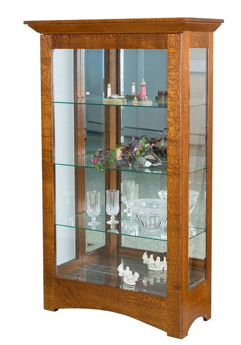 curio hutch leda curio cabinet amish direct furniture
