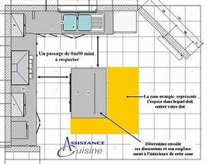 Dimension Standard Meuble Cuisine : ilot de cuisine dimension cuisine en image ~ Teatrodelosmanantiales.com Idées de Décoration