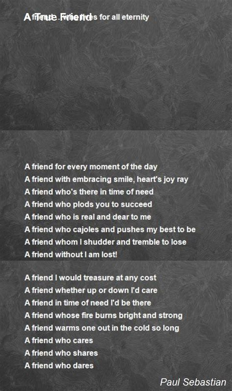 true friend poem  paul sebastian poem hunter