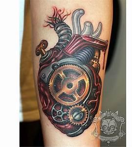 28+ Mechanical Heart Tattoos