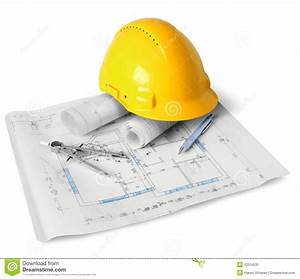 Construction plan tools stock image Image of technical