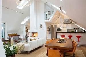 Neue Wohnung Einrichten : loft einrichten dachboden offener wohnbereich oberlichter wohnen in 2019 pinterest ~ Watch28wear.com Haus und Dekorationen