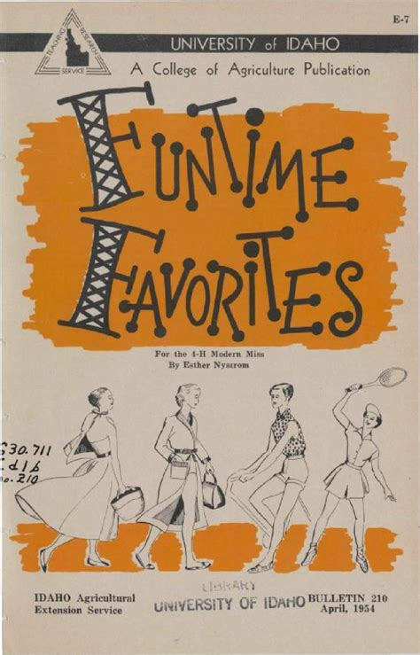 Funtime Favorites 1954 By University Of Idaho Library