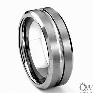 queenwish 8mm mens matte finished tungsten carbide wedding With ctr wedding rings