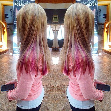 1000 Ideas About Pink Peekaboo Hair On Pinterest
