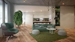 sejour moderne en 25 nouveaux exemples inspirants With tapis de yoga avec canape vert emeraude