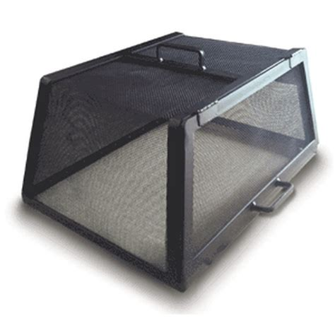 buy screens  square rectangular fire pit screen