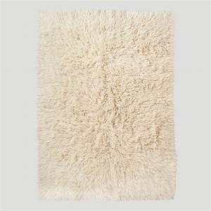 Ivory Flokati Wool Rug World Market