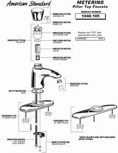 Part Diagram For Metering Commercial Pillar Tap Faucet