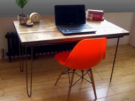 vintage industrial desk hairpin legs