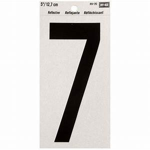 The hillman group 5 in elevated number 0 843060 the for Self adhesive house numbers and letters