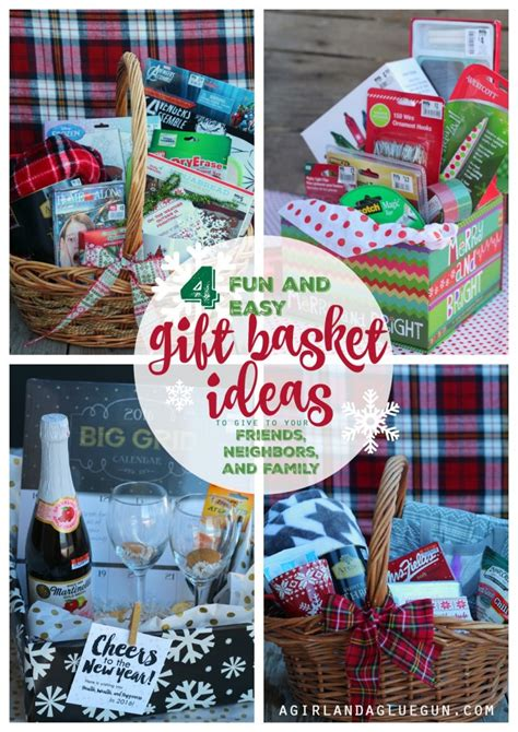 latest new gift baskets for christmas 4 and easy gift basket ideas for a and a glue gun