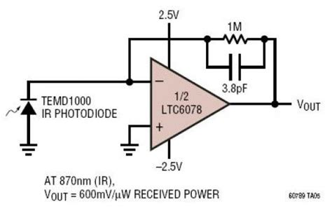 photodiode light detector circuit micropower photodiode amplifier circuit diagram world