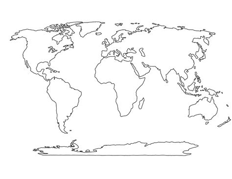 Blank World Map Worksheet Oaklandeffect